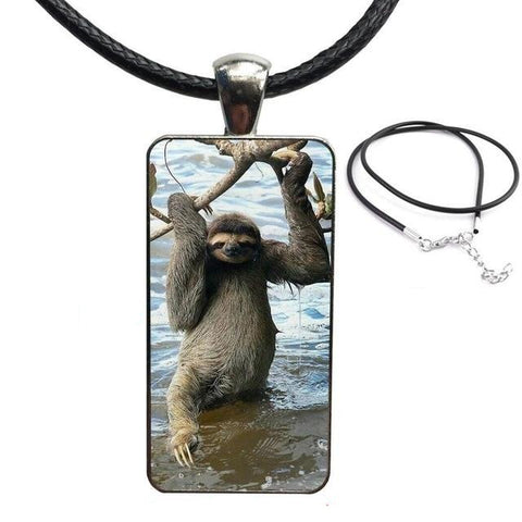 Sloth Beach Time Necklace - Sloth Gift shop