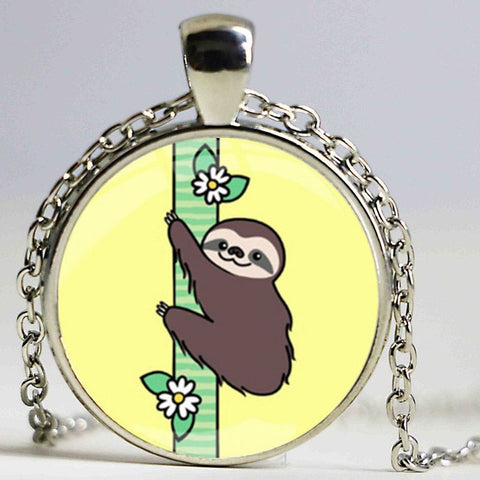 Butterfly Sloth Necklace - Sloth Gift shop