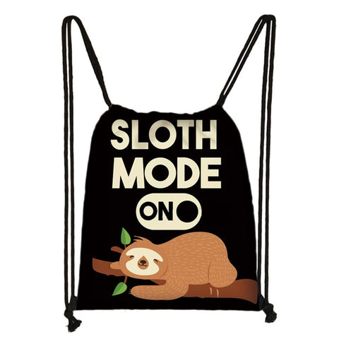 Sloth Mode On Drawstring Backpack