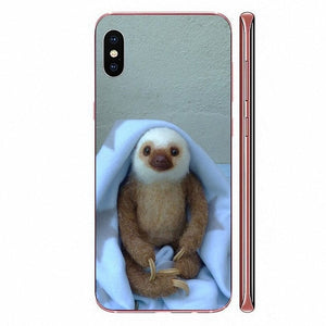 White Head Sloth LG Case