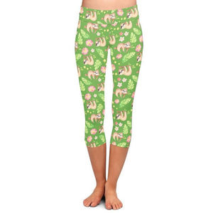 Green Sloth Leggings