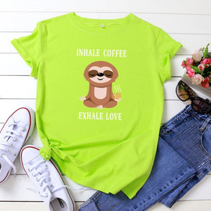 Inhale Exhale Sloth T-shirt
