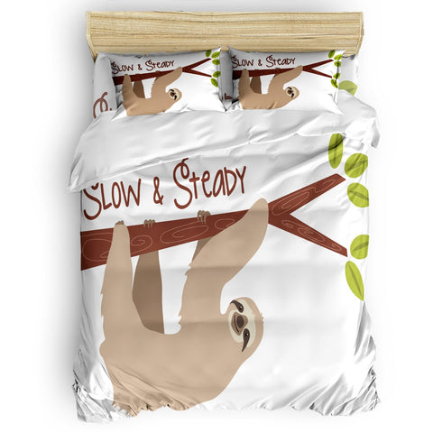 Slow And Steady Sloth Bedding Set