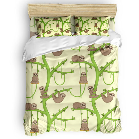 Sloth Green Branch Bedding Sets