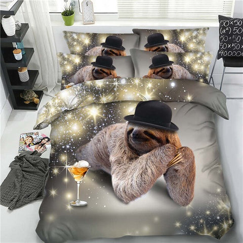 Glamorous Sloth Bedding Set