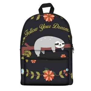Follow Dreams Sloth Travel Backpack