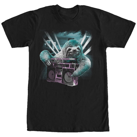 Image of Sloth Boombox T-shirt