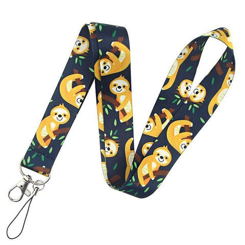 Yellow Sloth Lanyard
