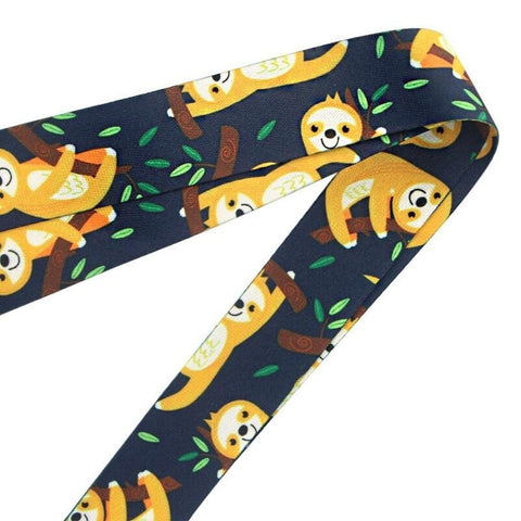 Image of Yellow Sloth Lanyard