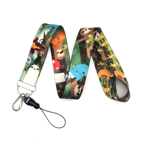 Lovely Colorful Sloth Lanyard