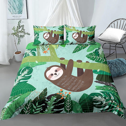 Hanging Forest Sloth Bedding Set