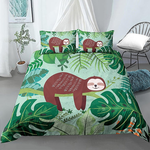 Branch Lying Sloth Bedding Set
