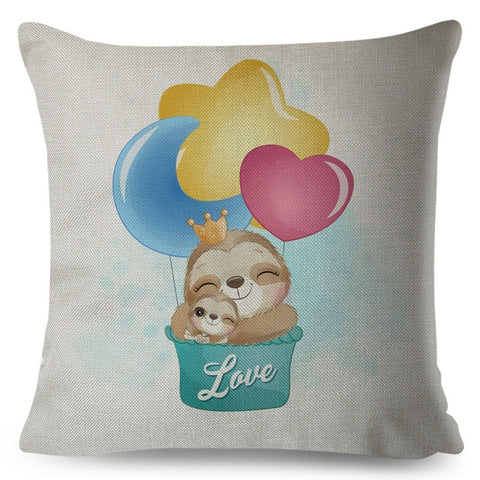 Loving Dad Sloth Cushion Cover
