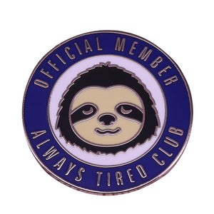 Official Club Sloth Pin Badge