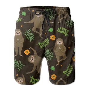 Yoga Pose Sloth Boardshort