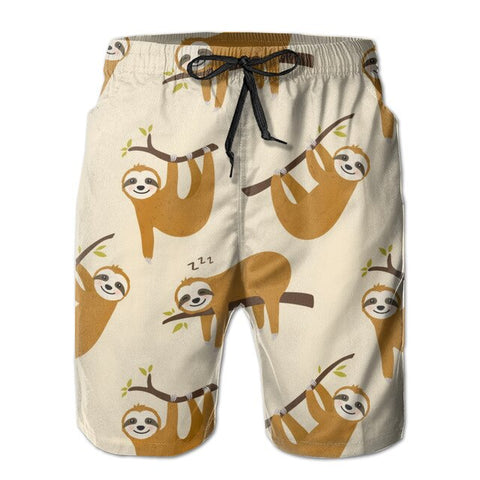 Hanging On The Tree Sloth Boardshort