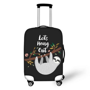 Lets Hang Out Sloth Luggage and Suitcase Cover