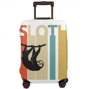 Hanging Vintage Retro Sloth Luggage and Suitcase Cover