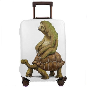 Speed Is Relative Turtle And Sloth Luggage and Suitcase Cover