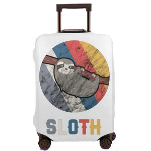 Vintage Retro Sloth Luggage and Suitcase Cover