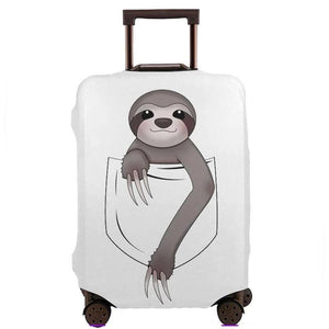 Happy Pocket Sloth Luggage and Suitcase Cover