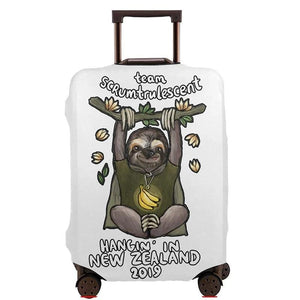 Hangin In New Zealand Sloth Luggage and Suitcase Cover
