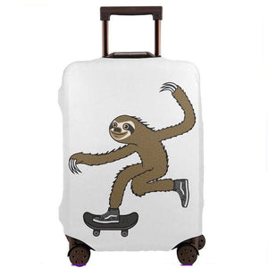 Skater Sloth Luggage and Suitcase Cover
