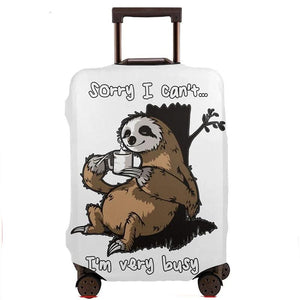 Sorry Sloth Luggage and Suitcase Cover