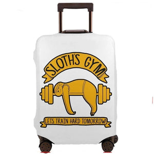 Gym Sloth Luggage and Suitcase Cover