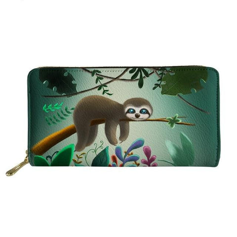 Jungle Lazy Sloth Purse / Wallet