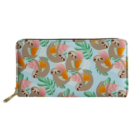 Ice Cream Eating Sloth Purse / Wallet