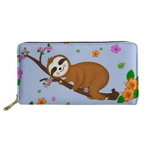 Colorful Flowers Sloth Purse / Wallet