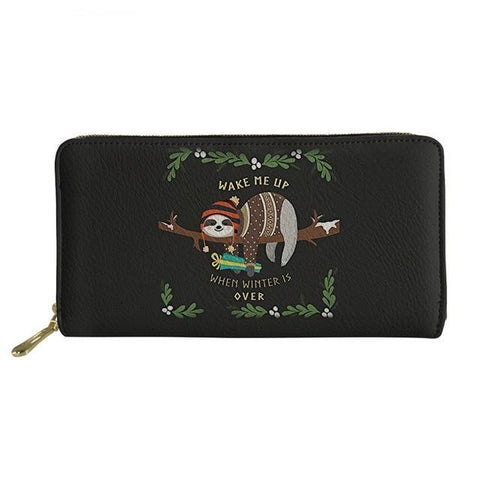 Waking Lazy Sloth Purse / Wallet