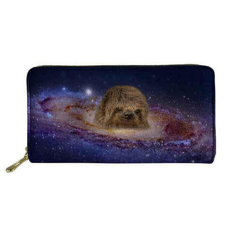 Outer Space Sloth Purse / Wallet