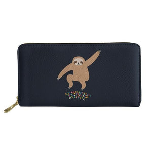 Skateboarder Sloth Purse / Wallet