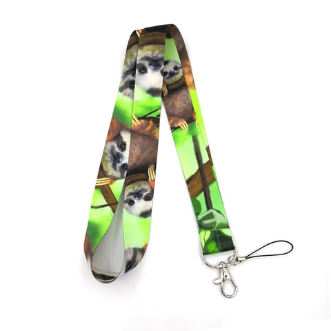 Image of Green Sloth Lanyard