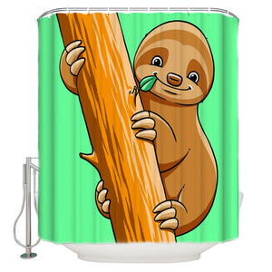 Bald Sloth Shower Curtain