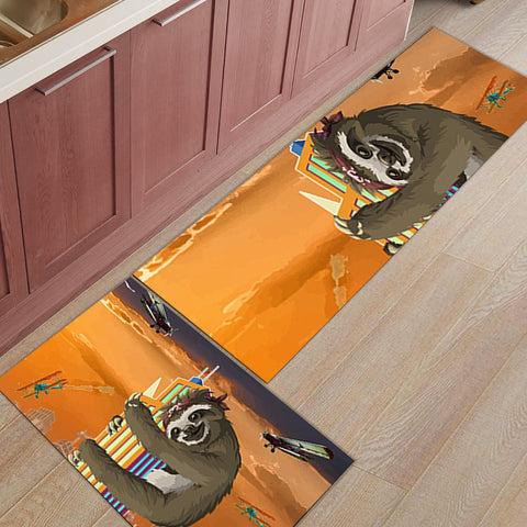 Building Climbing Sloth Door Mat Set