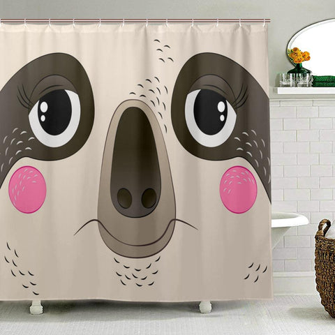 Big Face Sloth Shower Curtain