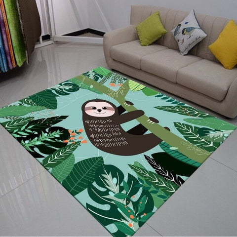 Greeny Sloth Carpet