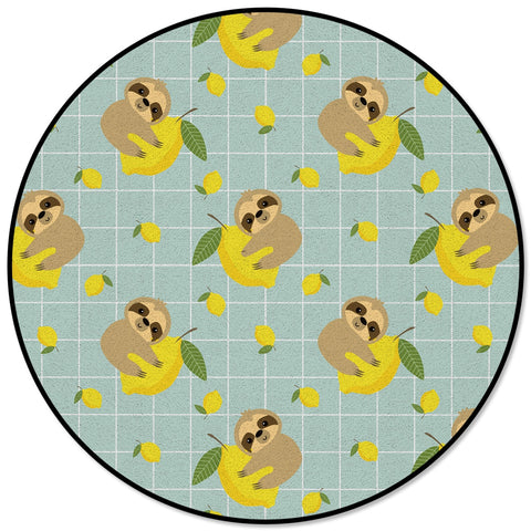 Animal Sloth Lemon Fruit Carpet