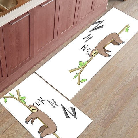 Snoring Sloth Door Mat Set