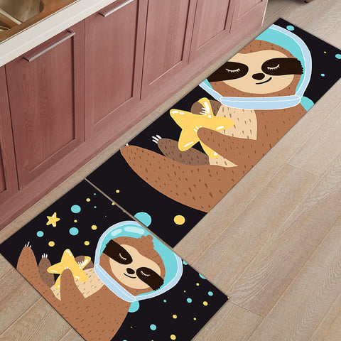 Galaxy Sloth Door Mat Set