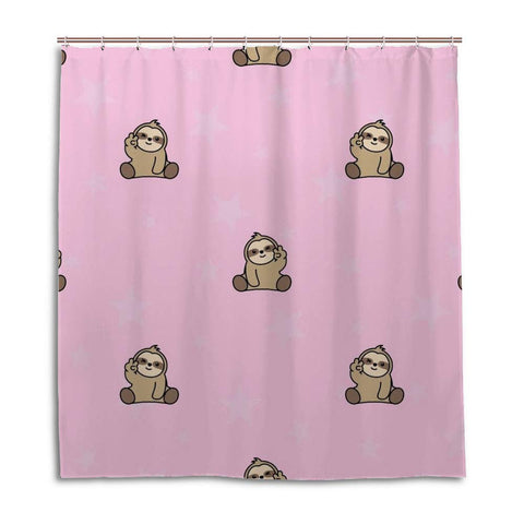 Peace Sign Sloth Shower Curtain