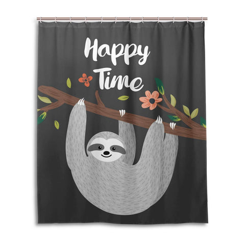 Sloth Happy Time Shower Curtain