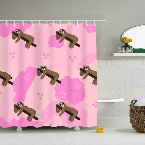 Sloth Pinks Shower Curtain