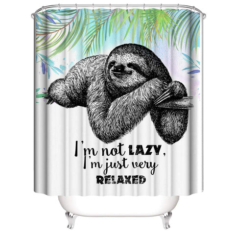 Just Very Relaxed Sloth Shower Curtain
