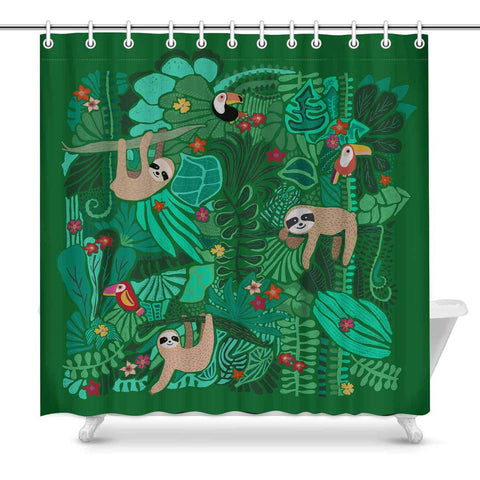 Novelty Sloth Shower Curtain