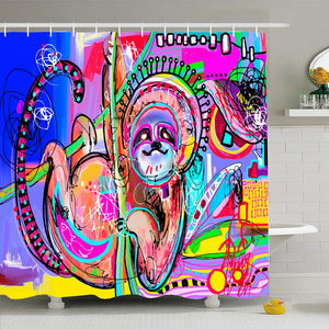 Colorful Sloth Shower Curtain