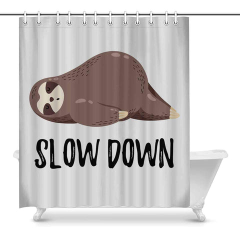 Funny Sloth Lying Slow Down Shower Curtain